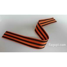 Георгиевская лента Жаккард, нарезанная 3,5 см*50 см