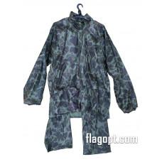 Дождевик-костюм, зеленый, нейлон (молния, заклепки, карманы)
