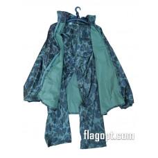 Дождевик-костюм, синий, нейлон (молния, заклепки, карманы)