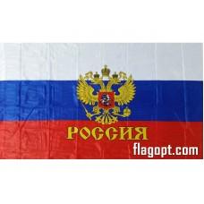 Флаг Россия Герб, Флажная сетка 90х145