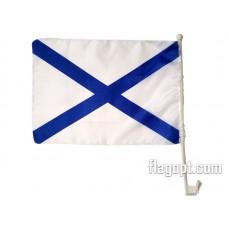 Флаг Андреевский с креплением на машину 30х45