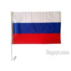 Флаг Россия с креплением на машину 30х45