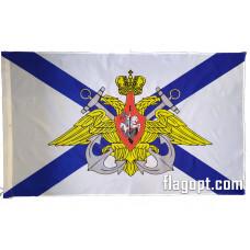 Флаг Андреевский Герб с креплением на машину 30х45