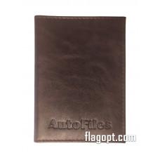 Обложка Авто-Документы+визитки, кожа