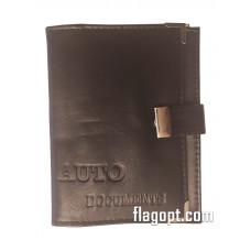 Обложка Авто-Документы+паспорт+визитки, кожа