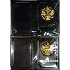 Обложка для паспорта Герб РФ с значком