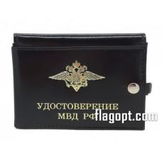 Обложка Авто-Документы Удостоверение МВД, кожа