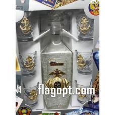 Набор подарочный ВМФ РФ Графин с стопками
