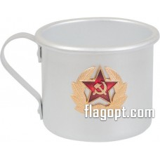 Кружка алюминиевая, Армейская СА, 500мл.